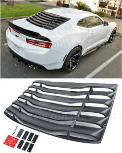 For 16 Up Camaro Coupe Eos Performance Style Rear Window Louver Sun