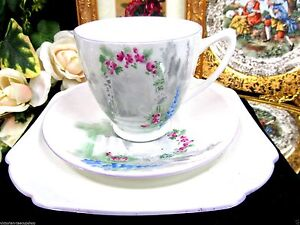 Shelley Tea Cup And Saucer Trio Archway Of Roses Pattern Teacup
