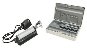 Heine Beta 400 Led F o Otoscope Beta 4 Usb Rechargeable Handle Tips And Case