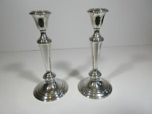 C50 Vintage Gorham Sterling Silver Candle Stick Holdersthe 3 Sections 8 1 2 In