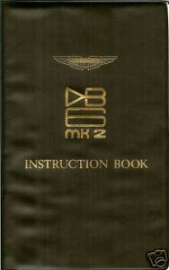 Aston Martin Db6 Mark Ii Instruction Book New