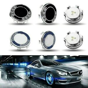 Floating Led Illuminated Wheel Caps Lighting Center Cover For Mercedes Benz 75mm