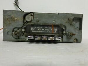 1963 65 Plymouth Am Push Button Radio Mopar 224 Bendix 5bp Transaudio Fury
