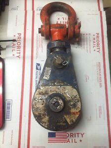 Mckissick 8 Ton Snatch Block 6 Pulley 5 8 3 4 Wire Rope Cable Tower D 6411
