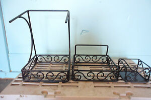 Lot Of 3 Steel Framed Coffee Hot Tea Hot Chocolate Condiment Stand
