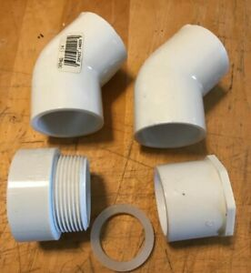 Lot Of 4 Nibco Pvc Schedule 40 Fittings 1 25 D2466 1 5 x1 25 4804 Male Thread