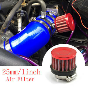 Motorcycle Car Air Filter 25mm Cold Intake Flow Non Woven Fabric Accessories