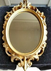 Antique Wood And Gold Embellished Italian Mirror Vintage Beautiful