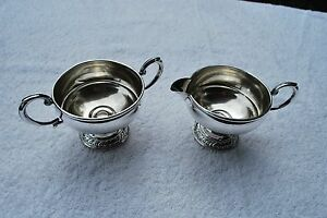 Sterling Silver Weighted Cream And Sugar Set Very Nice Set