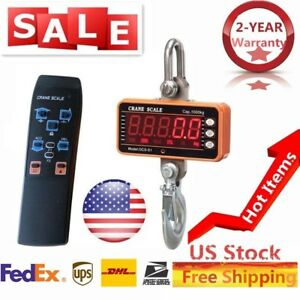 Digital Crane Scale 1000kg 2000lbs Lcd Heavy Duty Industrial Hanging Scale