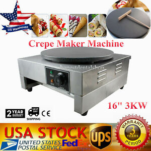 3kw Commercial Electric Crepe Maker Machine Pancake Kitchen Make
