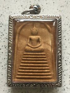 Thai Amulet Buddha Phra Somdej Lp Boon Wat Banna Magic Pendant Protect Rich Rare