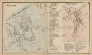 Westfield Silver Creek New York Antique Map Stewart 1867 Original Decor Gift