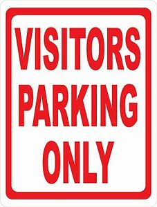visitors Parking Only Sign Size Options Visitor Spaces Spots Business