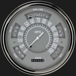 Gray 1949 50 Ford Shoebox Gauges Classic Instruments Fc49g