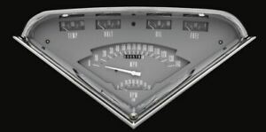Gray 1955 59 Chevy Truck Tach Force Gauges Classic Instruments Tf01g