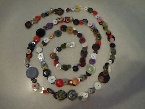 Charm String Of Vintage Buttons Assorted Varieties 97 Long