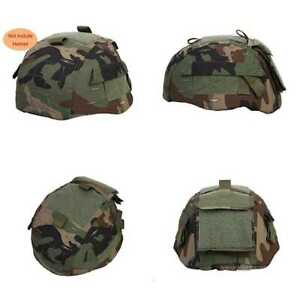 Tactical Airsoft Paintball Helmet Cover W Back Pouch For MICH2002 Ver2 WLD