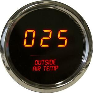 Intellitronix Led Outside Air Temperature Gauge In Chrome Bezel Red