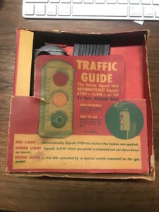 Vintage Car Accessory Barton Life Saver Rear Window Stoplight 1950