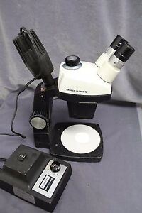 Bausch Lomb Sz 5 Microscope On a Stand With Nicholas Illuminator