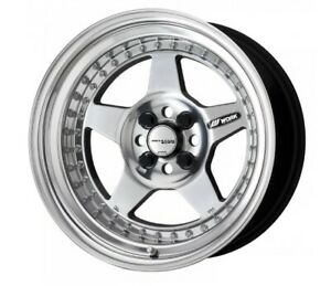 Work Meister Cr01 Buffing Finished 15x8 0j 6 4hx114 3 Set Of 4 From Japan