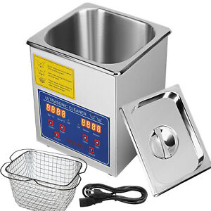 2l Qt 110w Digital Heated Industrial Ultrasonic Parts Cleaner