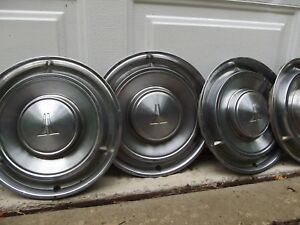 Oldsmobile Hub Caps Vintage 1960 s Dog Dish Wheel Covers 13