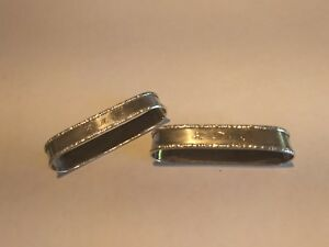 Pair Antique Lunt Sterling Silver Engraved Napkin Rings
