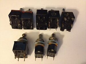 8 Vintage Toggle Switches 3a 250 V Cutler Hammer Painton Varied Pins Used