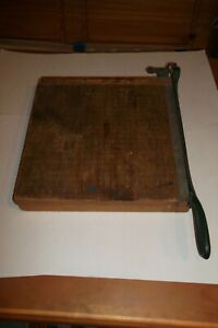 Vintage Pb Trimmer Paper Cutter 12x12 Wood