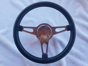 Lecarra Mark 4 Steering Wheel 14 3 Spoke 44201 Ford Mustang Adapter Button New