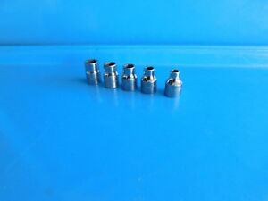 Used Matco Tools 6 7 9 10 11 Mm 6 Pt Short 3 8 Dr Sockets Lot Of 5