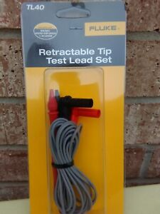 Fluke Tl40 Retractable Tip Test Lead Set