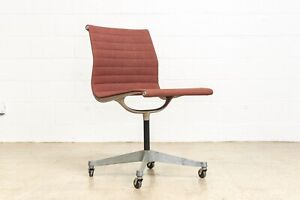 Mid Century Office Chair Vintage Eames Herman Miller Aluminum Group Side Chair