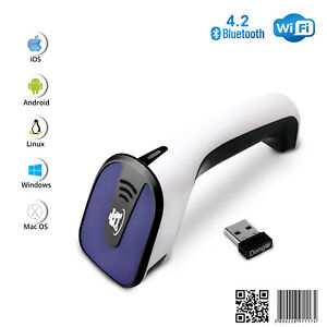 1d 2d Wireless Bluetooth Barcode Scanner 3 in 1 Handheld Usb Qr Code Reader