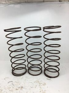 Lot Of 3 Metal Industrial Coil Spring Rusty Steampunk Art