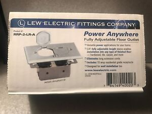 Lew Electric Rrp 2 lr a Adjustable Floor Outlet New In Box Lowest Price
