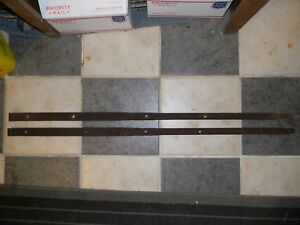 Pair Of Antique Hand Forged Barn Door Strap Hinges 42 Inches