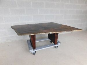 Organic Live Edge Free Form Slate Top Cocktail Coffee Table