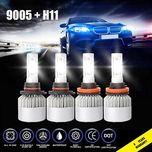 9005 H11 3830w 574500lm Combo Cree Led Headlight Kits High Low Beam Bulb 6000k