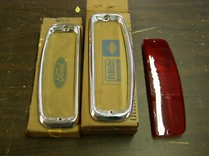 Nos Oem Ford 1964 1965 1966 Truck Pickup Tail Light Lamp Bezels F100 F200 F300