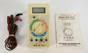 A w Sperry Instruments 4 5 Digit Digital Multimeter Dm 7010 Calibrated