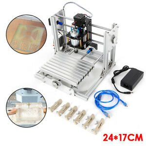 Milling Machine Cnc 2417 Mini Diy Mill Router Kit Usb Desktop Metal Engraver Pcb