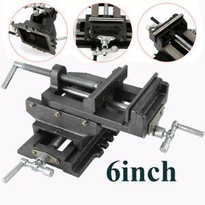 Heavy Duty 6 Cross Drill Press Vise 2 Way X y Slide Metal Milling Clamp Tool Br