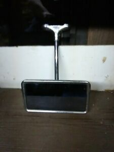 Vintage Chrome Rear View Mirror 5 1 4 X 2 7 8 For Hotrod Or Ratrod