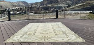 Beautiful Antique Cr1900 1939 S Muted Natural Dye Oushak Area Rug 6 7 10