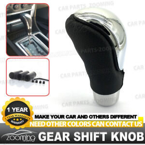 Black Line Leather Automatic Manual Car Gear Shift Knob Shifter Lever At Mt