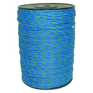 1640 Ft Blue green Polywire Electric Fence Livestock Horse Security Fencing