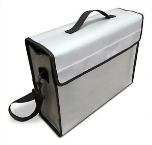 Large Fireproof Document Bag 15 x12 x5 Inch 2000 f For Money And Valuables